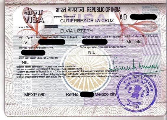An indian visa