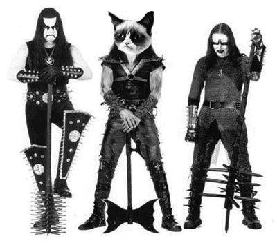 Black Metal Grumpy Cat II