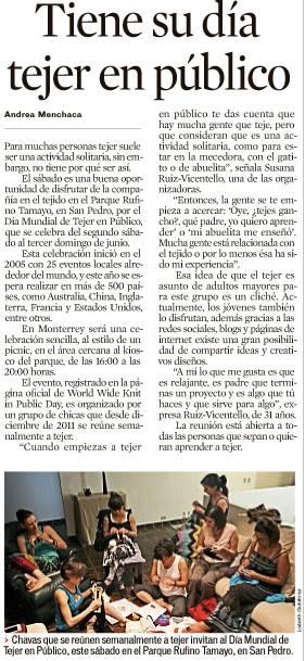 Periódico EL NORTE, Sección Vida! Viernes 7 de junio.