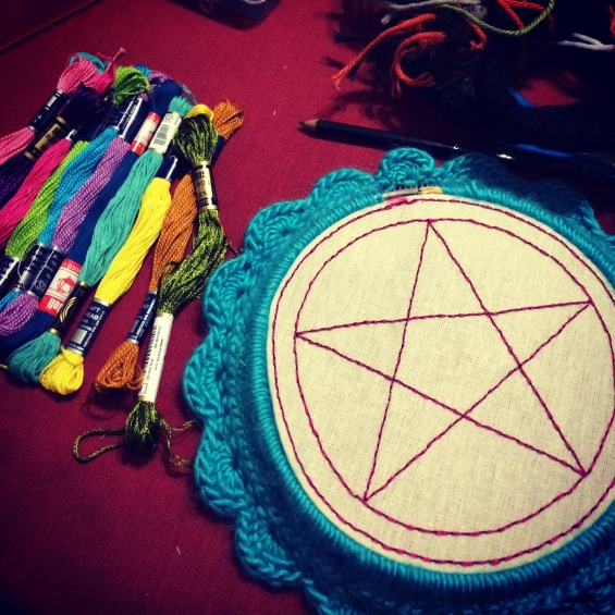 Witchy embroidery: sigil