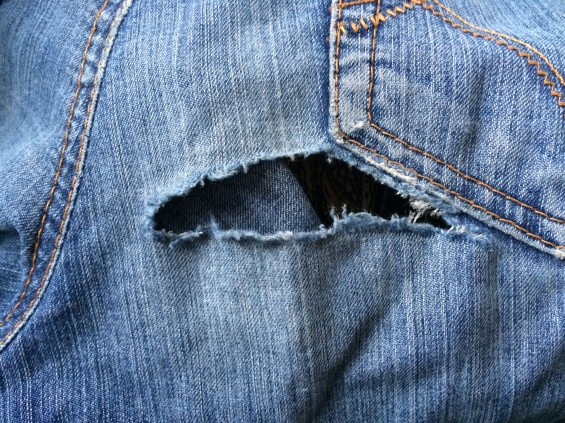 Patched jeans 2
